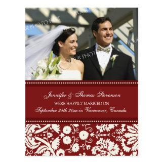 Gerade verheiratete Mitteilungs-Foto-Postkarten Postkarte