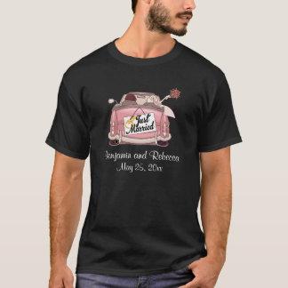 Gerade verheiratete Paar-Gewohnheit T-Shirt