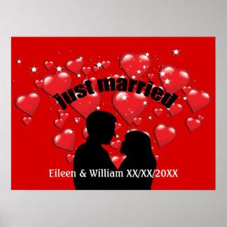 Gerade verheiratete poster