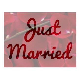 """""""Gerade verheiratete"""" Postkarte"""