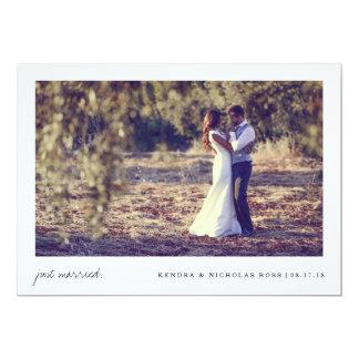 Gerade verheiratete | Wedding Mitteilung 12,7 X 17,8 Cm Einladungskarte