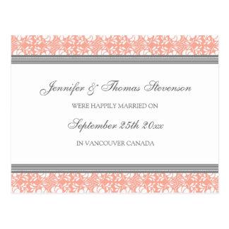 Gerade verheirateter postkarte