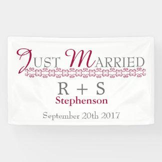 Gerade verheiratetes modernes banner