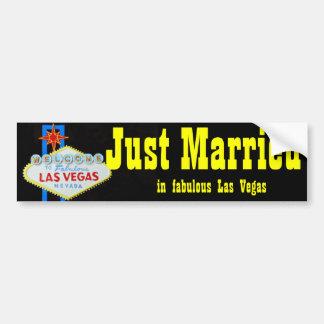 Gerade verheiratetes willkommenes Zeichen Las Autoaufkleber