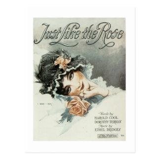 Gerade wie die Rosesongbook-Abdeckung Postkarten
