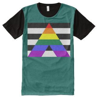 Gerader Verbündeter T-Shirt Mit Bedruckbarer Vorderseite