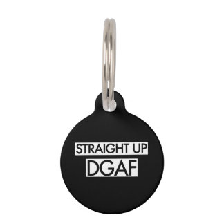 Gerades hohes DGAF Haustiermarke
