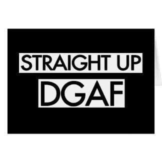 Gerades hohes DGAF Karte