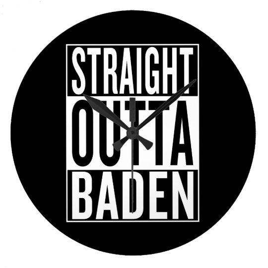 gerades outta Baden Große Wanduhr