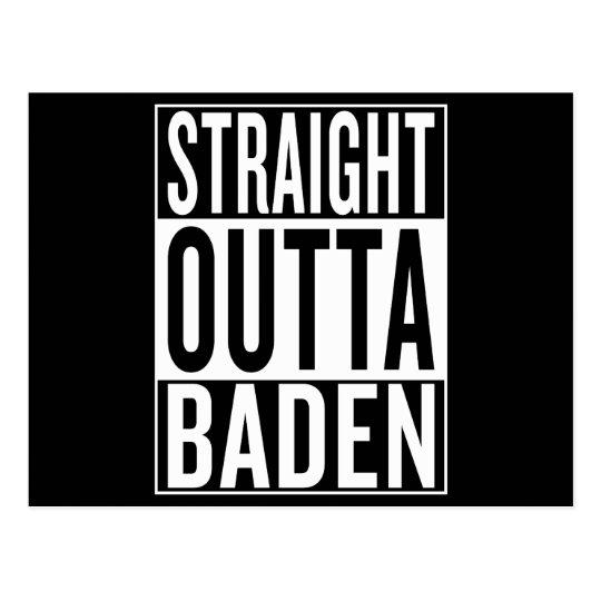 gerades outta Baden Postkarte