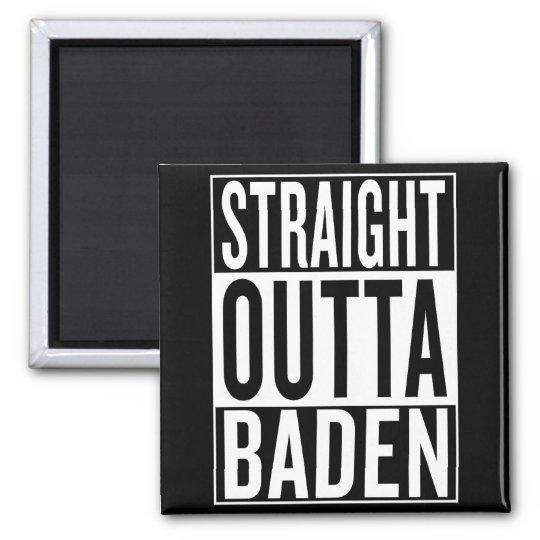 gerades outta Baden Quadratischer Magnet