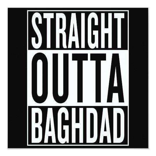 gerades outta Bagdad Quadratische 13,3 Cm Einladungskarte