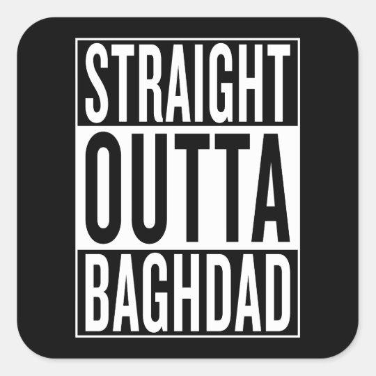 gerades outta Bagdad Quadratischer Aufkleber