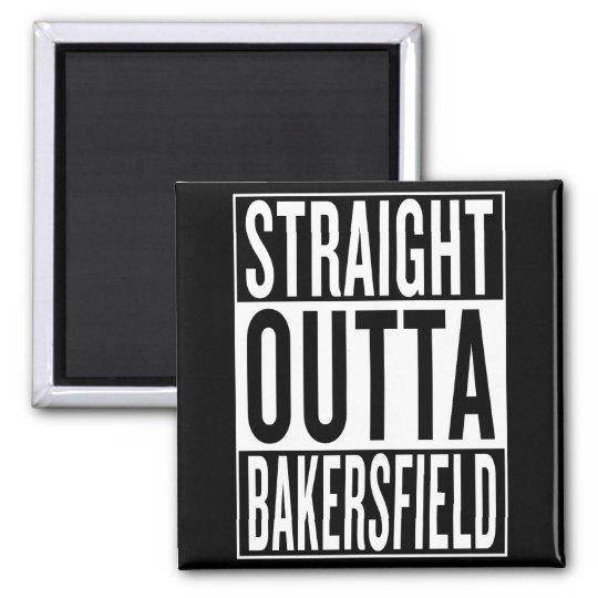 gerades outta Bakersfield Quadratischer Magnet