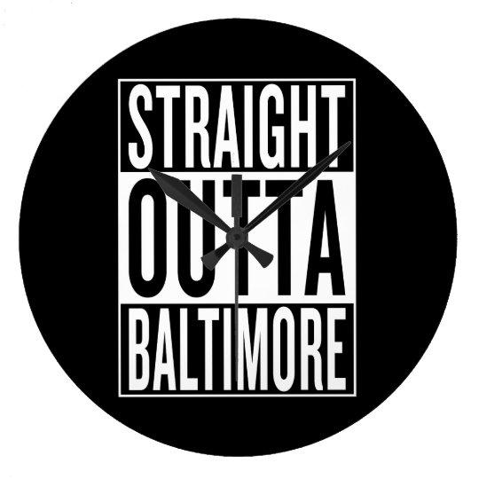 gerades outta Baltimore Große Wanduhr