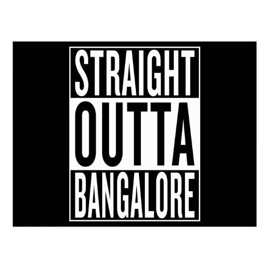 gerades outta Bangalore Postkarte