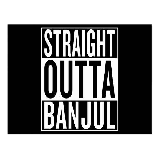 gerades outta Banjul Postkarte