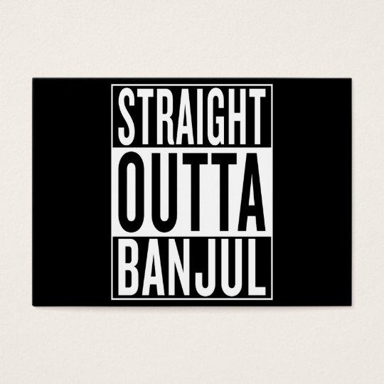 gerades outta Banjul Visitenkarte
