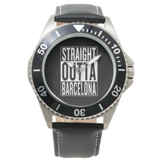 gerades outta Barcelona Armbanduhr