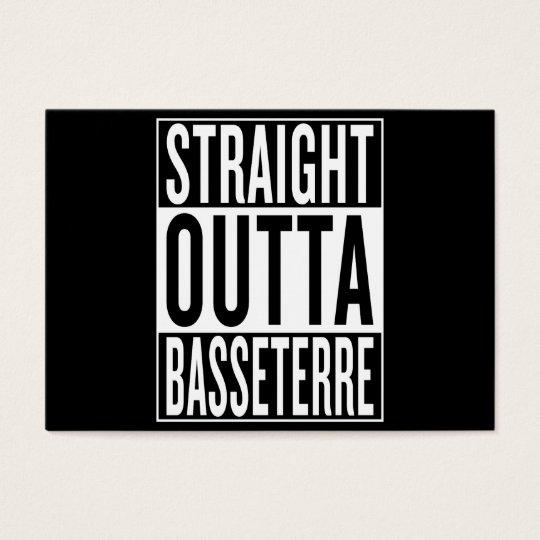 gerades outta Basseterre Visitenkarte