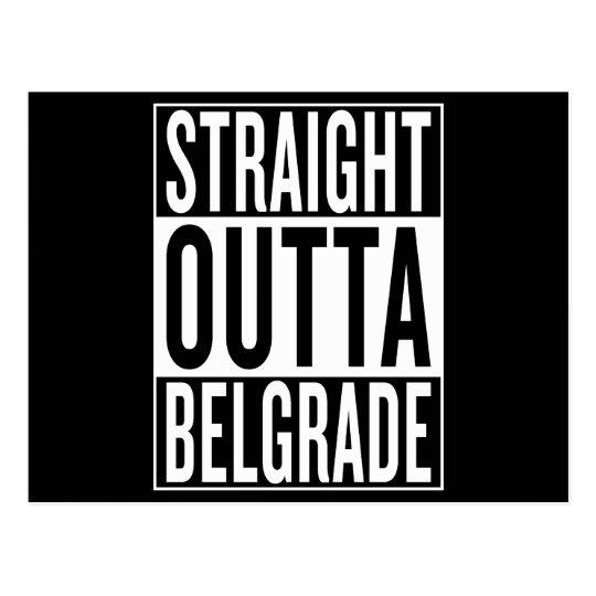 gerades outta Belgrad Postkarte