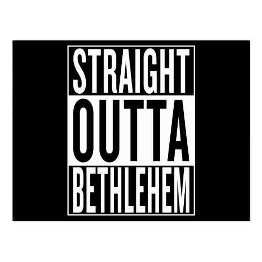gerades outta Bethlehem Postkarte