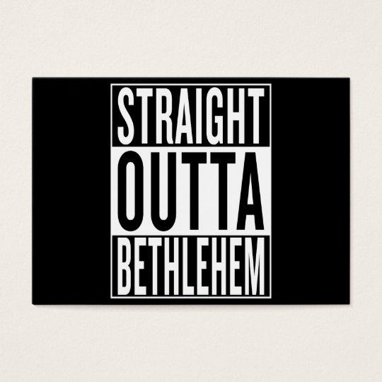 gerades outta Bethlehem Visitenkarte