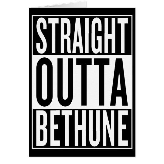 gerades outta Bethune Grußkarte