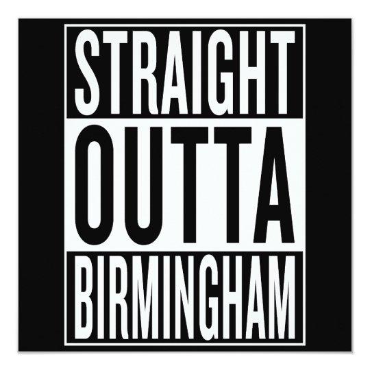 gerades outta Birmingham Karte