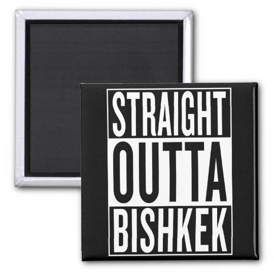 gerades outta Bischkek Quadratischer Magnet