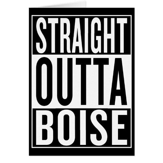 gerades outta Boise Grußkarte