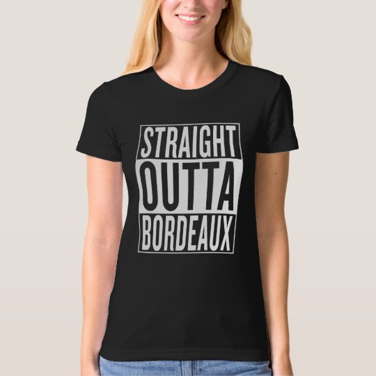 gerades outta Bordeaux T-Shirt