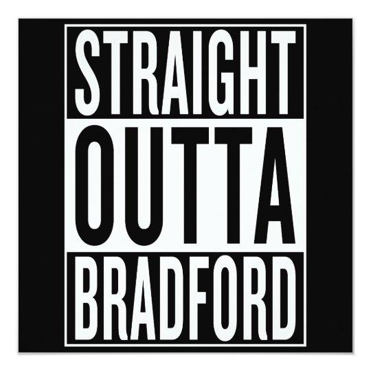 gerades outta Bradford Quadratische 13,3 Cm Einladungskarte