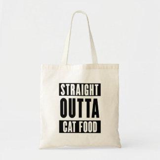 Gerades outta Katzenfutter Budget Stoffbeutel