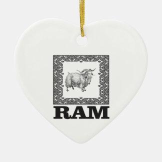 gerahmte alte Schafe Keramik Ornament