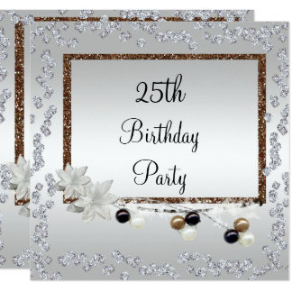 Gerahmte Eleganz 25. Geburtstag Karte
