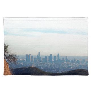 Gerahmter Berg des LA Tischset