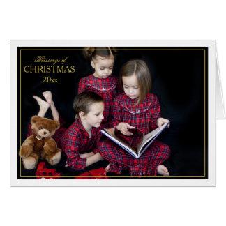 Gerahmter Weihnachtssegen gefaltete Karte