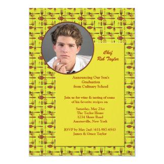 Gerät-Foto-kündigen kulinarischer SchulAbschluss 12,7 X 17,8 Cm Einladungskarte