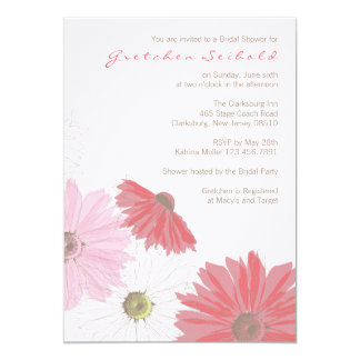 Gerber Gänseblümchen-Polterabend-Einladung 12,7 X 17,8 Cm Einladungskarte