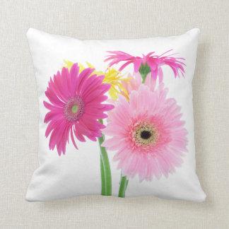 Gerbera-Gänseblümchen-Blumen Kissen