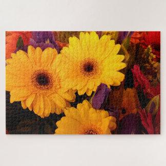 Gerbera-Gänseblümchen-Blumen und Iris