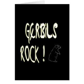 Gerbils-Felsen! Gruß-Karte Karte