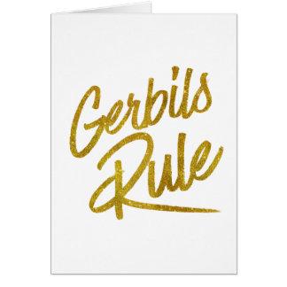Gerbils-Regel-GoldImitat-Folien-metallisches Karte