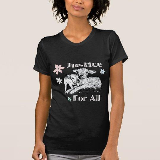 Gerechtigkeit für alles Tierrecht-Shirt T-Shirt