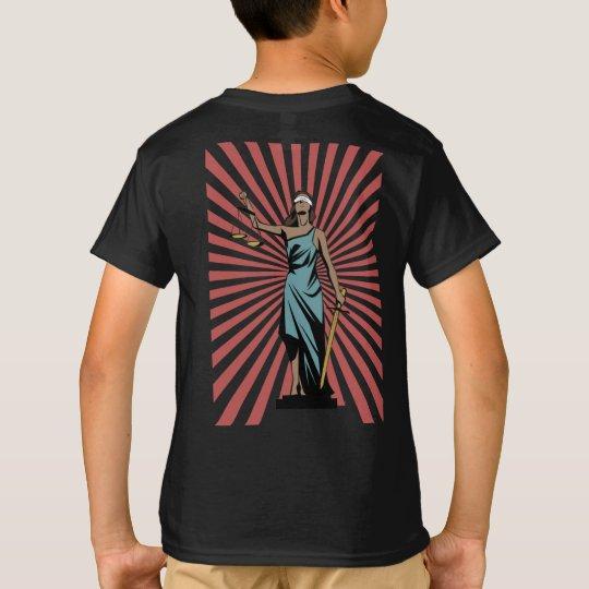 Gerechtigkeit-Sexy Text T-Shirt