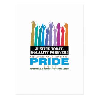 Gerechtigkeits-heute Gleichheit für immer Postkarte