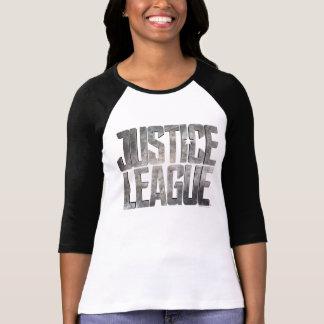 Gerechtigkeits-Liga-metallisches Logo der T-Shirt