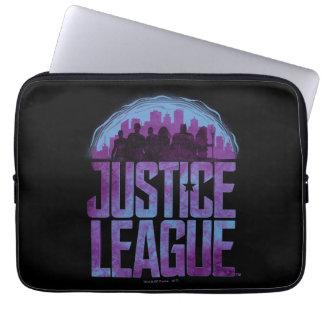 Gerechtigkeits-Liga-Stadt-Silhouette der Laptopschutzhülle