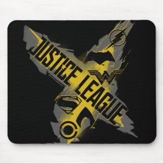 Gerechtigkeits-Liga-u. Team-Symbole der Mousepads